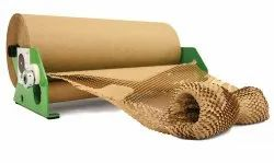 Plain Brown Paper Cushion Wrapping Roll Honeycomb Paper Rolls, GSM: 80 - 120 GSM