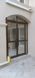 Brown Aluminum Office Door, For Home, Size/Dimension: 6 Feet