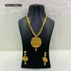 Necklace Earrings Wedding Bridal Jewelry Set Indian Gold Jewellery Design