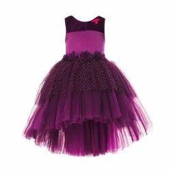 TBJN21-01PR Toy Balloon Kids Girls Purple Dress