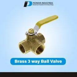 3 Way Brass Ball Valve