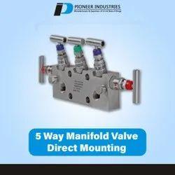 5 Way Manifold Valve Direct Mounting