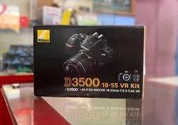 Black Nikon D3500 DSLR Camera with AF-S DX 18-55mm lens