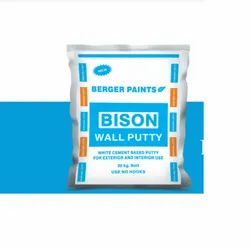Berger Paints Bison White Cement Based Wall Putty 20 Kg