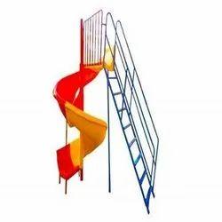 outdoor playground equipment spiral slide 5ft