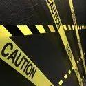 White Barricade Caution Tape