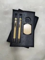 Wooden Pen And Keychain Set