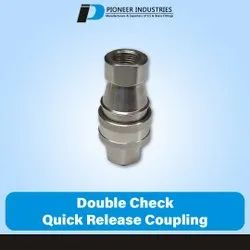 Double Check Quick Release Coupling