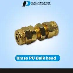 Brass PU Bulk Head
