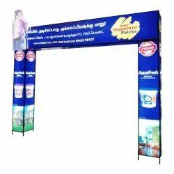 Flex Aluminum Pillar Arch Gate Banner