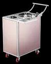 SS Smart Snacks Trolley With PVD Panels