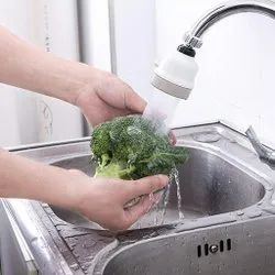 Amara Impex White Round Plastic Kitchen Sink Water Faucet