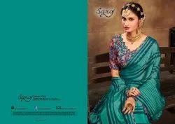 Chiffon Saree With Digital Blouse