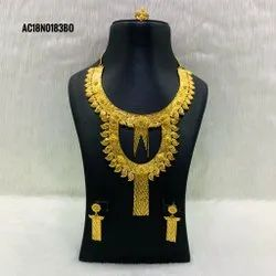 Gold Plated Indian Ethnic Bridal Necklace Set