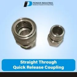 Straight Through Quick Release Coupling