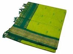 Party Wear Kalyani Cotton Saree, 6 m (with blouse piece)