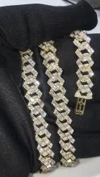 Miami Cuban Link Chain with Round and Baguette Diamonds