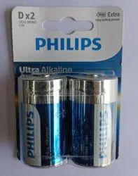 Philips D type Alkaline battery