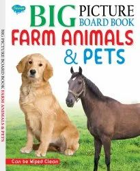 Big Picture Board Book Farm Animals & Pets Can Be Wiped Clean