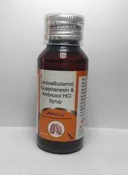 Levosulbutamol1mg + Ambroxyl 30mg+Guaiphenesin50mg Syrup