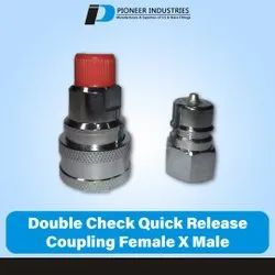 Double Check Quick Release Coupling Female x Male