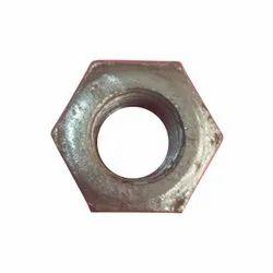 Hexagonal Mild Steel Industrial Heavy Hex Nuts, Size: M16