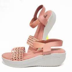 Leather Flats & Sandals Ladies Fancy Slipper Footwear, Size: 7 - 12