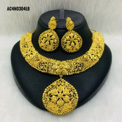 Gold Jewelry African Design Set Bride Women