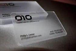 PVC Transparent Visiting Cards
