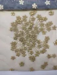 Bridal Heavy Net Embroidery Fabric