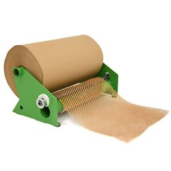 Brown Recycled Kraft Paper Bubble Wrap For Packaging, Eco-friendly Expandable Paper Wrap