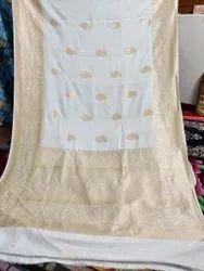 Banarsi Handloom Chinya Silk Saree