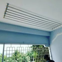 Ceiling Cloth Drying Hanger 6 Feet X 6 Rods
