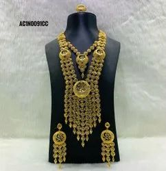 African New Classic Beautiful Jewellery Set Gold Plated Design