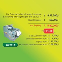 Autoprint Mini Offset Printing machine - 1520 Colt