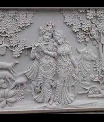Radha Krishnan Stone Murals