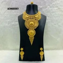 Short Necklace African Jewelry Design Bridal Gold Plated Jewellery