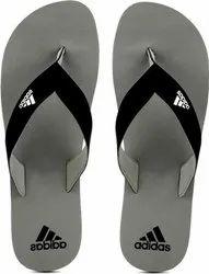 GREY Rubber Adidas Flip Flops, Size: 6-10