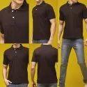 Brown Polo Neck T Shirt
