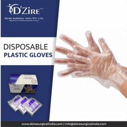 DZire Plastic Disposable Hand Gloves