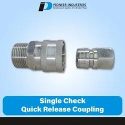Single Check Quick Release Coupling