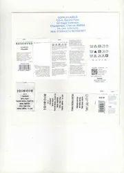 Wash care printed label