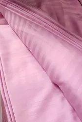 Pink Colour Satin Stripes Bedsheet, Pillowcover, Duvet Cover