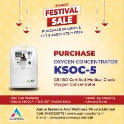 Oxygen Concentrator 5 LPM, CE/ISO, Medical Grade