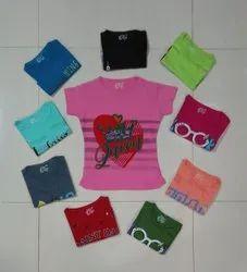 Girl Cotton Printed T Shirts