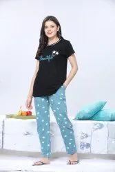 Women Cotton Printed Night Suit / Pyjama Set / Sleepwear/ Nightdress/ Lounge Wear
