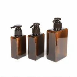 150ml 180ml and 250 ml  Amber Lotion Pump PET Cosmetic Bottle