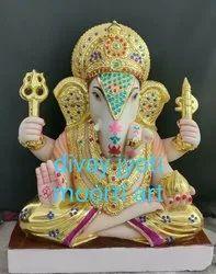 Marble Ganesha Dagdu Seth Statue