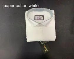 Mens Cotton White Shirt