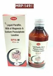 BPIX-M  SYRUP (liquid paraffin and milk of magnesia oral emulsion uses)